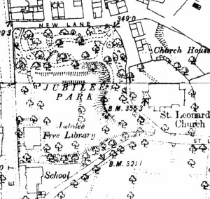 Church House on OS 1:2500 mapping surveyed 1889-91