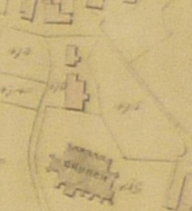 1839 – The tithe map of Middleton identifies house and stables occupied by Thos. Kenyon and the Church Croft (476)