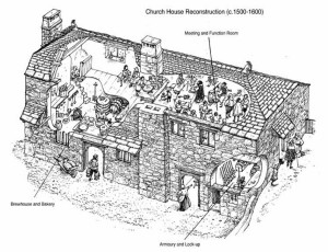 This reconstruction is by Norman Young, an architectural illustrator
