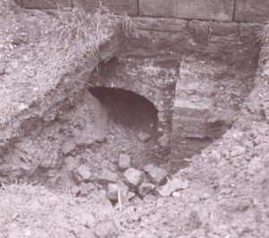 In the 1930's, excavation for a water main to the church unearthed an arch under the North wall.