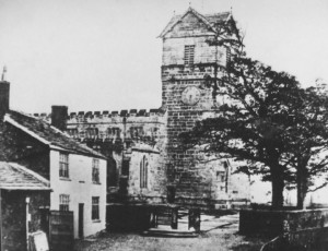 Ill. 5.4.7: St Leonard's church, viewed from the north, with Church House to the left, c 1888