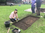 Anne making a start on pit one